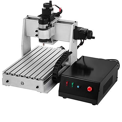VEVOR Kit per incisore del router di CNC 3020 Router di CNC 4 assi Porta USB CNC Incisore Metallo Professionale Router di Incisione per Trapano MACH3 Controllo (300X200mm)