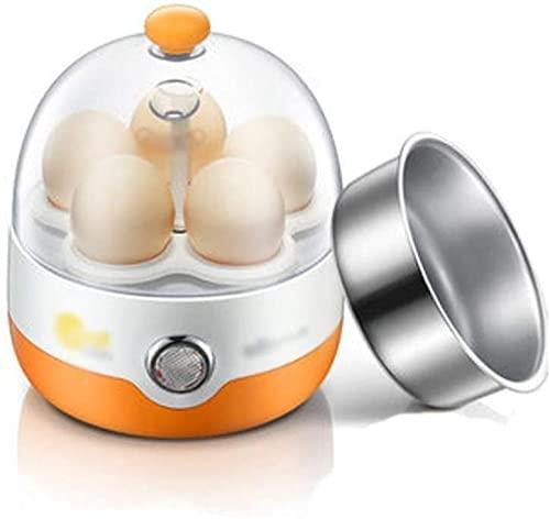 Hervidor de huevos Vaporera de huevos con apagado automático Artefacto de desayuno pequeño para uso doméstico Cocedor de huevos multifunción Vaporera de huevos opcional de dos colores-naranja Wel