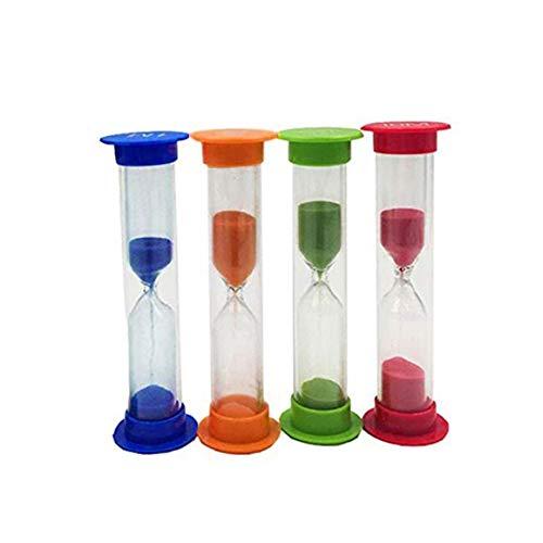 Funnyrunstore Mini Reloj de Arena 30 Segundos 1 2 3 5 10 Minutos Temporizador Juguetes de Regalo para niños 4Pcs / 6Pcs Decoración de Escritorio Reloj de Arena Multicolor