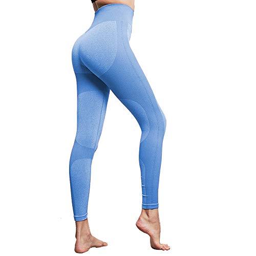 Lover-Beauty Pantalone Mujer Legging Yoga Deportiva Mujer Legging Elástico Cintura Alta Deportivo Entrenamiento Push Up para Danza Fitness Control Barriga Stretch Running Gimnasio Legging Pantalones