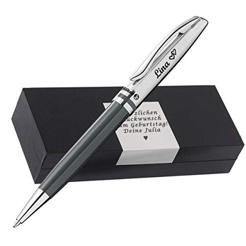 Pelikan Kugelschreiber mit Gravur als Geschenk & Symbol mit Geschenkverpackung Pelikan Kugelschreiber Jazz Classic Warmgrau PS18 - mit AMAZON KONFIGURATOR direkt online gestalten !