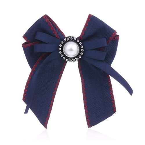 THTHT Vrouw & Man 6308 lange band Big Bowknot Shirt Bow Tie Pins Kraag Accessoires Mode sieraden Blue
