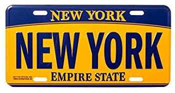 Artisan Owl New York Empire State Blue and Gold Souvenir License Plate
