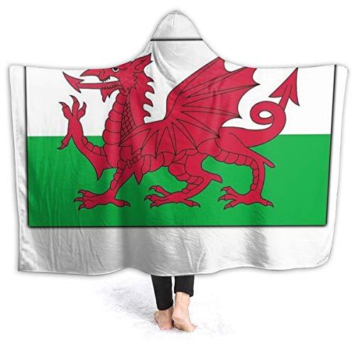 Flanellen deken met een hoed Navy WALES, WELSH FLAG, VLAG VAN WALES, rode draak, Welsh. Reizen Eenheidsmaat (127 X 153cm) Fleece Bed Gooi Warm Zachte Omkeerbare Anti-Drijvende Flanellen Effen Deken Voor Bed En Sofa.