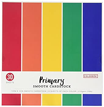Colorbok 68207B Smooth Cardstock Paper Pad 12  x 12  Primary