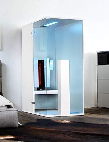 b-intense Infrarotkabine | Infrarotsauna Sauna Infrarot Rotlicht Wärmekabine Select LINE 1 für eine Person weiß Hochglanz