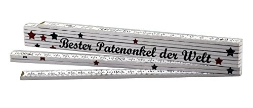 Zollstock Bester Patenonkel der Welt - Geschenk - Geburtstag - Weihnachten