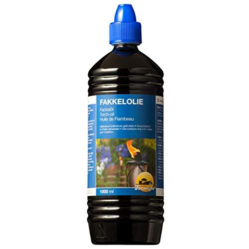 Hepoluz TORCHOIL 1 L Farmlight Olio combustibile per torce e fiaccole 1 Bottiglia da 1 litro, Blu