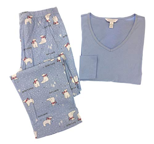 Charter Club 100% Cotton Pajama Set (Polar Bear, Medium)