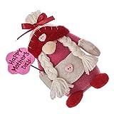 Amosfun Muñeca Gnome, regalo para madres, roja, rellena, de peluche, elfo, enano, primavera, descarada, felicidad, día de la madre, escandinavo, tomte muñeca para mamá