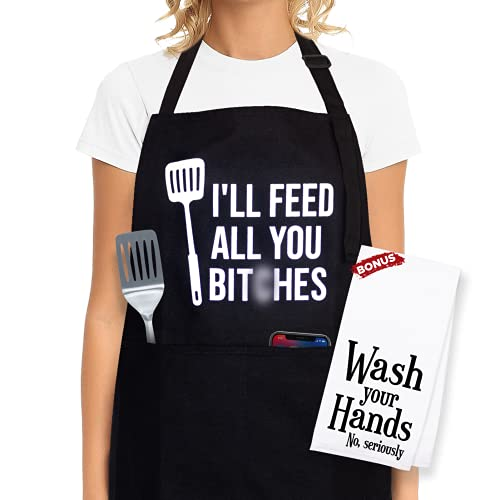 Kitchen Aprons for Women With Pockets - Aprons for Women Cute, Apron for Women - Funny Gifts for Mom, Aprons for Women With Pockets, Funny Aprons for Women, Funny Gifts for Women, Mothers Day Gifts