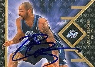Autograph Warehouse 99047 Carlos Boozer Autographed Basketball Card Utah Jazz 2008 Upper Deck No. 22