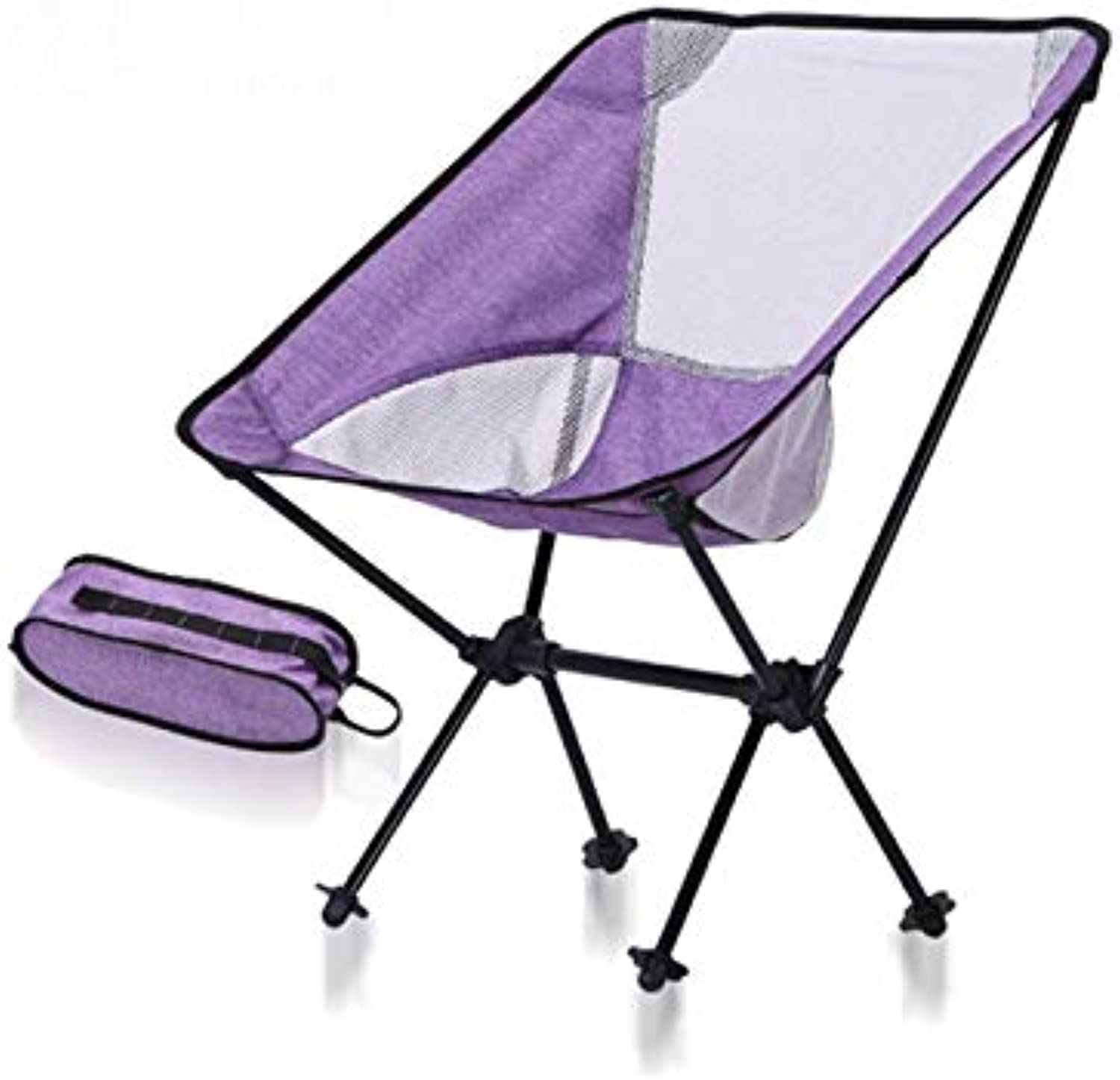 Compact Camping Chair Ultralight Portable Folding Backpacking Chair Summer Camping Super Breathable-bluee Purple,Purple