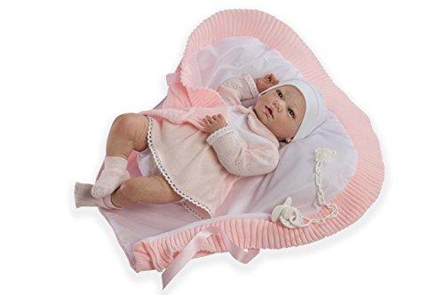 Muñecas Guca – Muñeca de bebé con Braguitas 559 Reborn Martina de 46 cm, Color Rosa