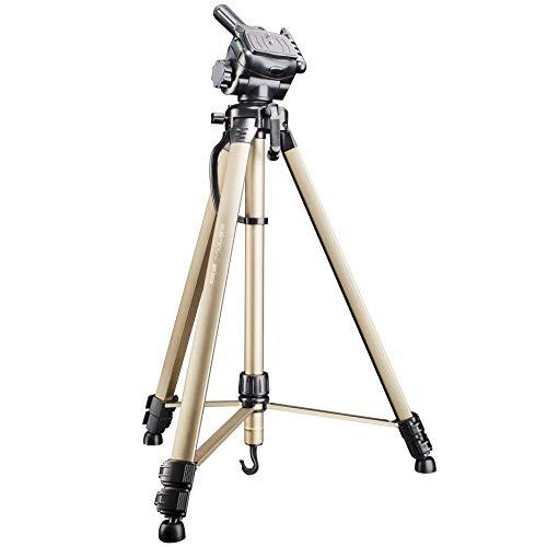 """Walimex WT-3530 Cavalletto Stativo Treppiede Alluminio Leggero 146 cm + Borsa Testa Foto 3D, filettatura standard 1/4"""""""