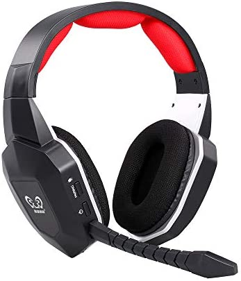 HUHD Wireless Headset 2 4Ghz Optical Stereo Noise Canceling Gaming Headphone with 7 1 Surround product image