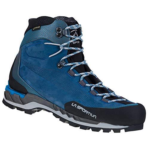 LA SPORTIVA M Trango Tech Leather GTX Blau, Herren Gore-Tex Wanderschuh, Größe EU 46.5 - Farbe Opal - Neptune
