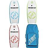 Two Bare Feet 42' Bodyboard Triple Bundle + Board Bag - 3 x Future Bodyboard (Future Blue + Future Green +...