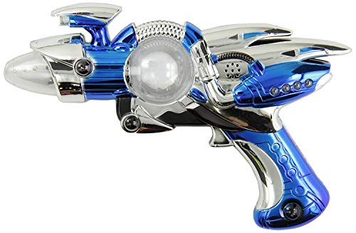 IR Super Spinning Laser Space Blaster with LED Light & Sound (Colors May Vary)