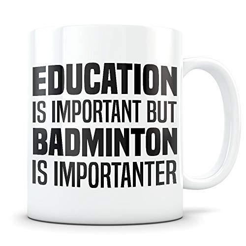 Cukudy Badminton - Divertente tazza da badminton per giocatore o allenatore