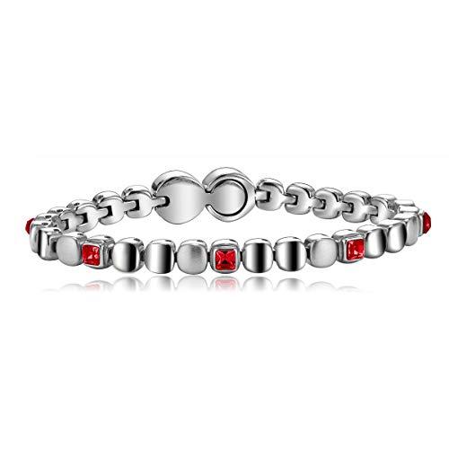 Breil Gioiello Collezione Rolling Diamonds, Bracciale da Donna in Acciaio Misura Medium con con Pietre - TJ1455