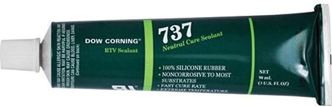 Dow Corning 737 Neutral Cure RTV Sealant, Clear, 3 oz. Tube