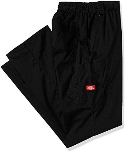 Dickies Men's Big Signature Elastic Waist Scrubs Pant, Black, Large Tall