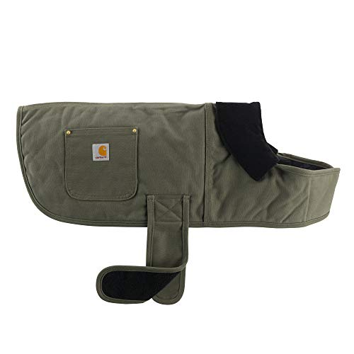Carhartt Chore Coat, Dog Vest, Water Repellent Cotton Duck Canvas, Army Green, Medium
