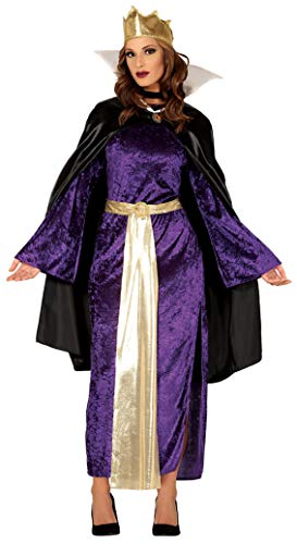 Guirca böse Königin Kostüm für Damen Größe M-L - Fasching Karneval, Größe:L