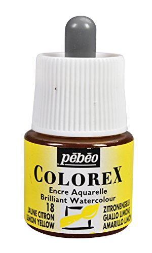 Colorex Acuarela de Tinta, Pet, Limones/Amarillo, 4.5x 4.5x 7cm, 1Unidades