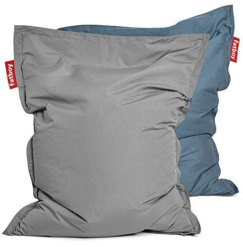 Fatboy Original Sitzsack Outdoor | Limitierte Sonderausgabe Duo Tone | 140 x 180 cm in Grau (Grautöne Grey & Wave)