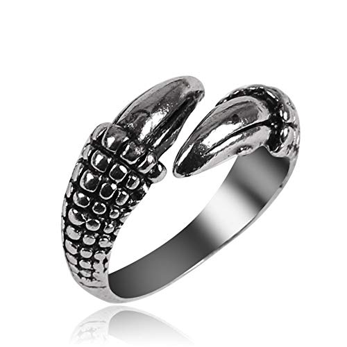 ZNQPLF Fashion Retro Snake Ring Punk Style Snake-shaped Ring Student Index Finger Ring Jewelry Gift (Main Stone Color : JZ187, Ring Size : Resizable)