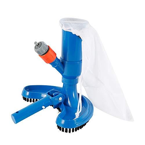 Mini aspirapolvere per piscina a getto con testa di aspirazione di pulizia Aspiratore portatile con spazzola per piscina, accessori per aspirapolvere per fontana per piscina con laghetto termale