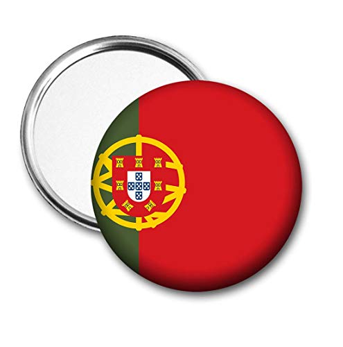 Portugal Vlag Pocket Spiegel voor Handtas - Handtas - Cadeau - Verjaardag - Kerstmis - Stocking Filler - Secret Santa
