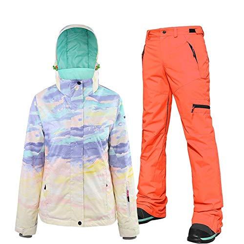 KIBILLL dames tweedehands snowboard pak vrouwelijke ski pak waterdicht volwassen ski-jas en broek pak