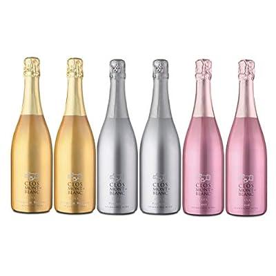 CLOS MONTBLANC Sparkling Cava Brut Bundle - Premium, Nature Reserva & Rosé 75cl, 6 Bottles