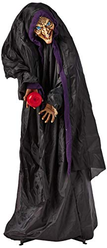 Animated Witch with Red Apple Full Size Halloween Prop