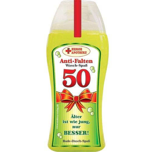 Andrea Verlag Spaß Duschbäder Duschgel Shampoo zum Geburtstag Geschenk für Männer Frauen (50. Geburtstag 32997)