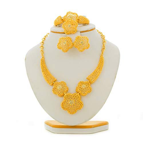 Goldfarben Ethiopian African Dubai Schmuck Sets Eritrea Habesha Sudan Halskette stellt Braut Hochzeit Schmuck für Frauen