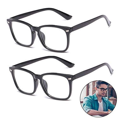 Blaulichtfilter Brille (2 Pack) Filtern 95% des Blaulichts Gaming Brille für PC, Handy und Fernseher Anti-Müdigkeit Unisex Computerbrille Schutz gegen Schlaflosigkeit Kopfschmerzen