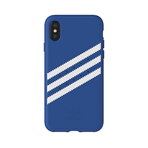 adidas Originals Stripes Case - Carcasa para Apple iPhone X, Color Azul y Blanco