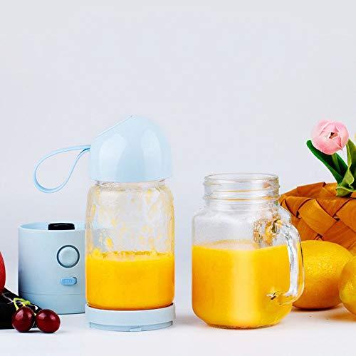 Exprimidor zumo de naranjas Mini licuadora portátil Hogar Exprimidor de vidrio eléctrico Copa Extractor y mezclador de jugo de frutas con carga USB for el hogar al aire libre Licuadoras y exprimidores