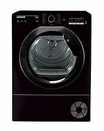 Hoover HLEC8LGB Freestanding Condenser Tumble Dryer, Sensor Dry, 8 kg Load, Black