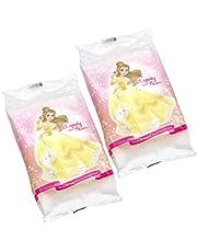 ディズニー おでかけ用 純水99% 手・くちふき 25枚×2個 (ディズニープリンセス ベル) 日本製 コンパクトサイズ
