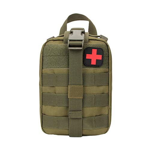 Outdoor Medical Tactical Bag Travel First Aid Kit Multifunctional Waist Pack Camping Climbing Bag Emergency Case Survival Kit - Vert 【Caroline Philipson】