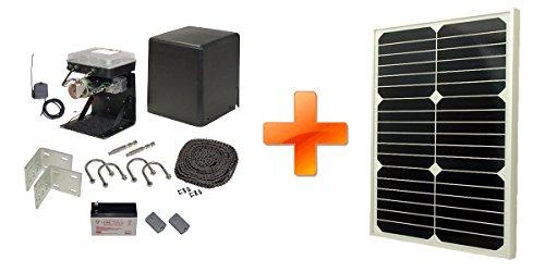 Low Profile Slide Gate Opener Solar Package (10 Watt Solar Panel)