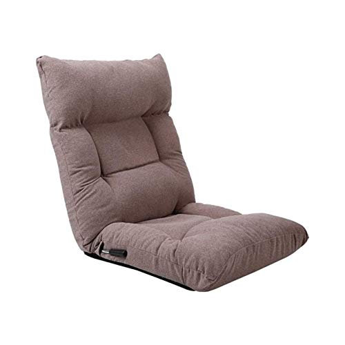 WSDSX Chair Recliner Armchair Tatami Chair Sofa Bed and Beanbag Chairs Folding Chair Recliner (Color : Light Coffee Color)