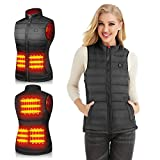 Heated Vest for Women Electric Heating Coat Jacket Warm Clothing for Winter(No Battery)(M) Black