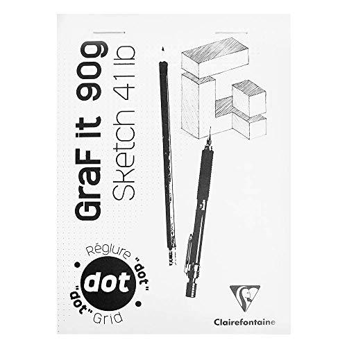 Clairefontaine 96694C A Block GraF'it 90g Abnehmbarer Punkt (bedruckte Blätter), Leere Abdeckung, 80 Blätter, A5 (14,8 x 21 cm)