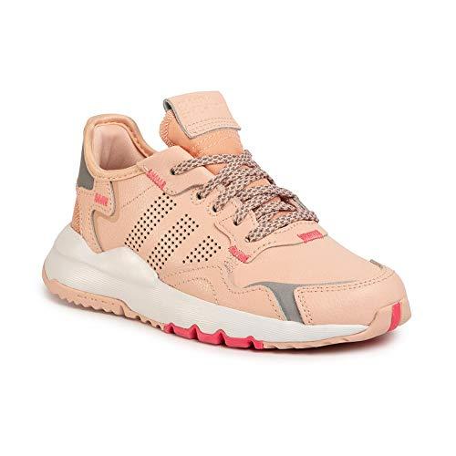 adidas Nite Jogger C - Zapatillas deportivas para niña, color rosa, 30.5